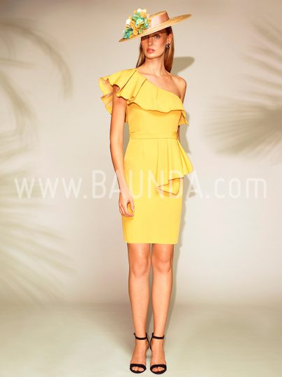 Vestido corto amarillo 2018 Baunda 1804