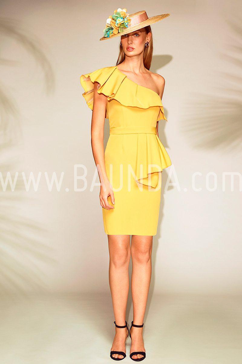 8640e6d1a Baunda Vestido corto amarillo 2018 Baunda 1804 en Madrid y tienda online