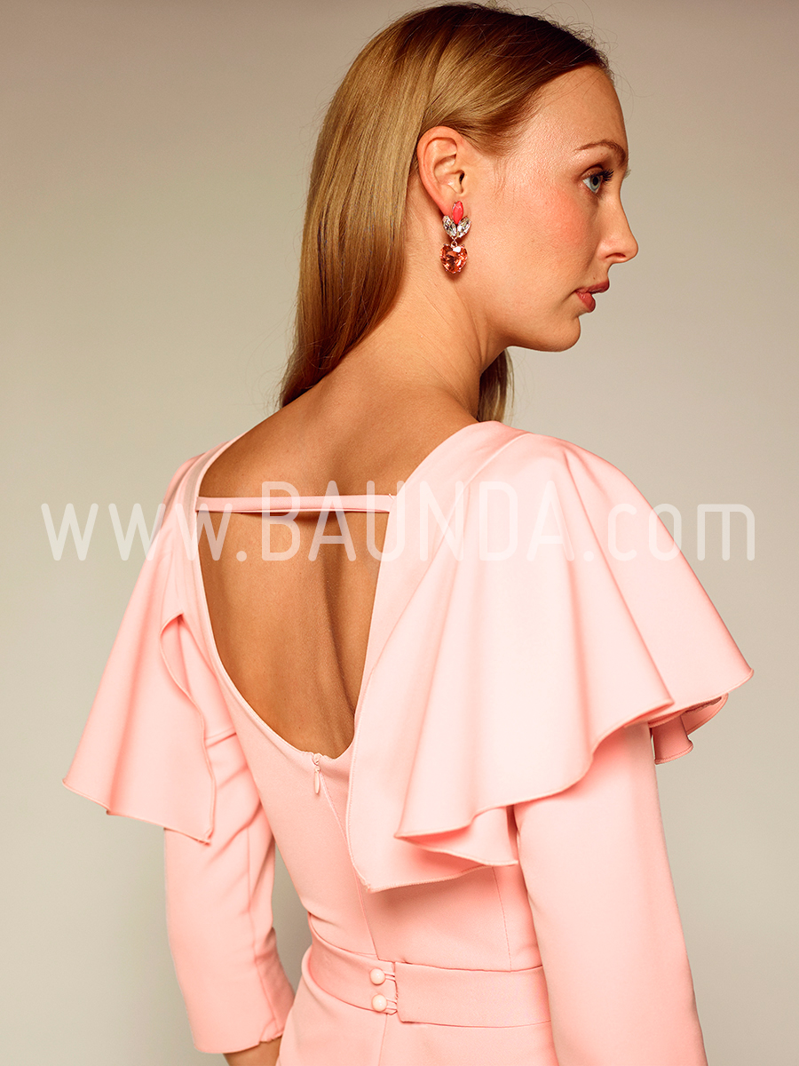 Vestidos cortos de color palo de rosa