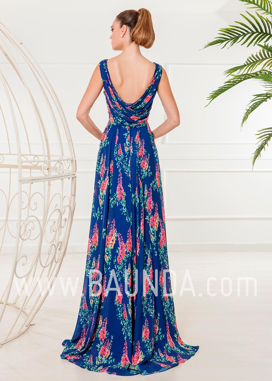 2a482a582 Baunda Vestido de fiesta estampado largo 2018 XM 4838 en Madrid y ...