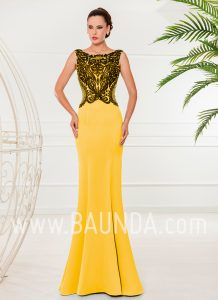 Evening dress trumpet yellow 2018 XM 4853