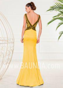 Vestido ajustado amarillo 2018 XM 4853 espalda