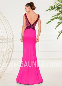 Evening dress trumpet fuchsia 2018 XM 4853