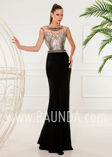 Vestido largo negro 2018 XM 4854
