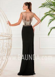 Vestido largo negro 2018 XM 4854 espalda