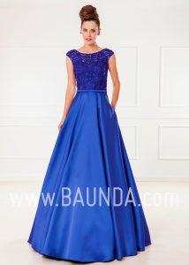 Vestido de fiesta largo azulón 2018 XM 4860