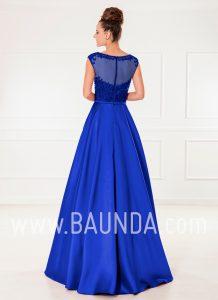 Vestido de fiesta largo azulón 2018 XM 4860 espalda