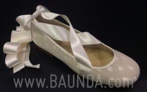 Zapatos de comunión de plumeti con tiras 2018 Z1818