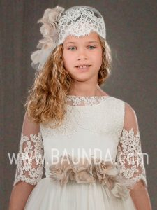 Communion headpiece Francis Montesinos 2018 style H421