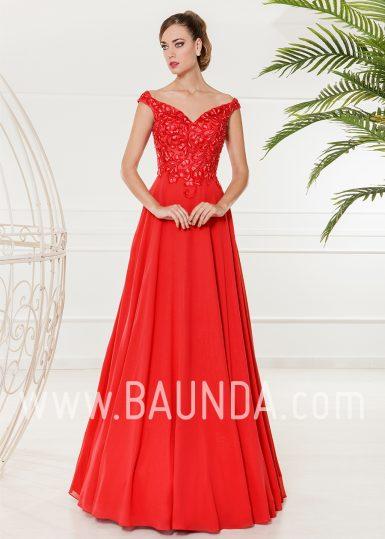 Vestido de fiesta largo rojo 2018 XM 4861