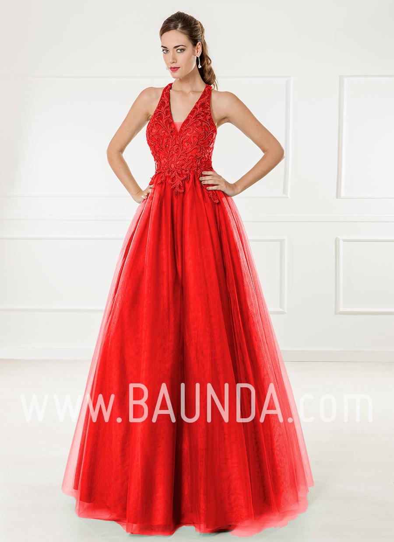 Modelos de vestidos largos en color rojo