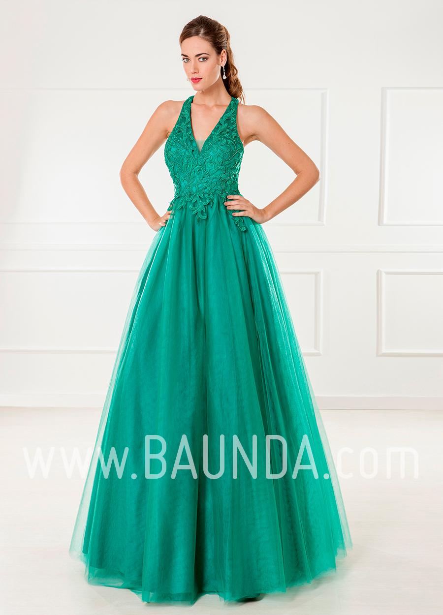 Baunda Vestido De Fiesta Largo 2018 Xm 4865 Verde Baunda