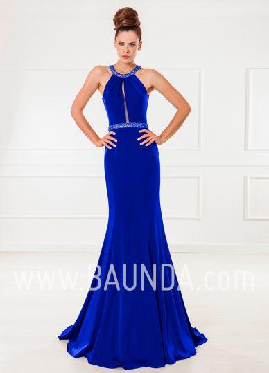 Vestido largo sirena azulón 2018 XM 4870
