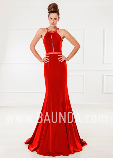 Vestido largo sirena rojo 2018 XM 4870