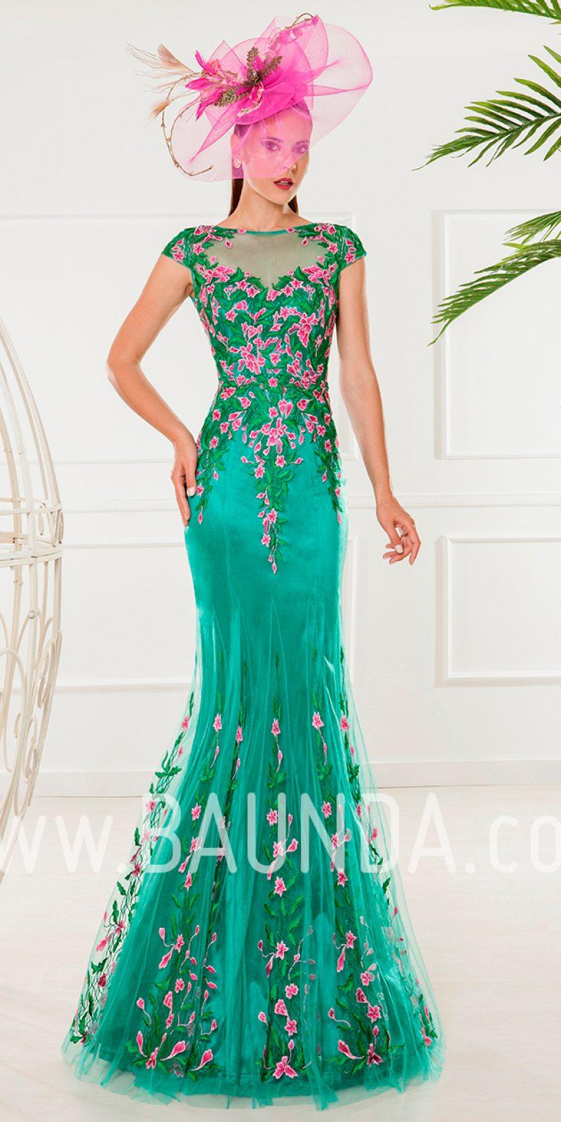 Baunda Vestido de madrina 2018 XM 4871 verde Baunda Madrid y tienda ...
