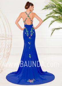 Vestido largo espalda al aire 2018 XM 4875 azulón
