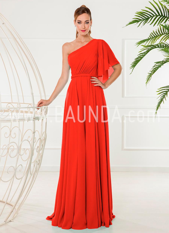 Vestidos de fiesta largos elegantes rojos