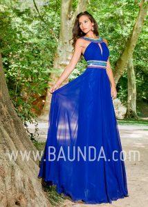 Vestido largo azulón 2018 XM 4886