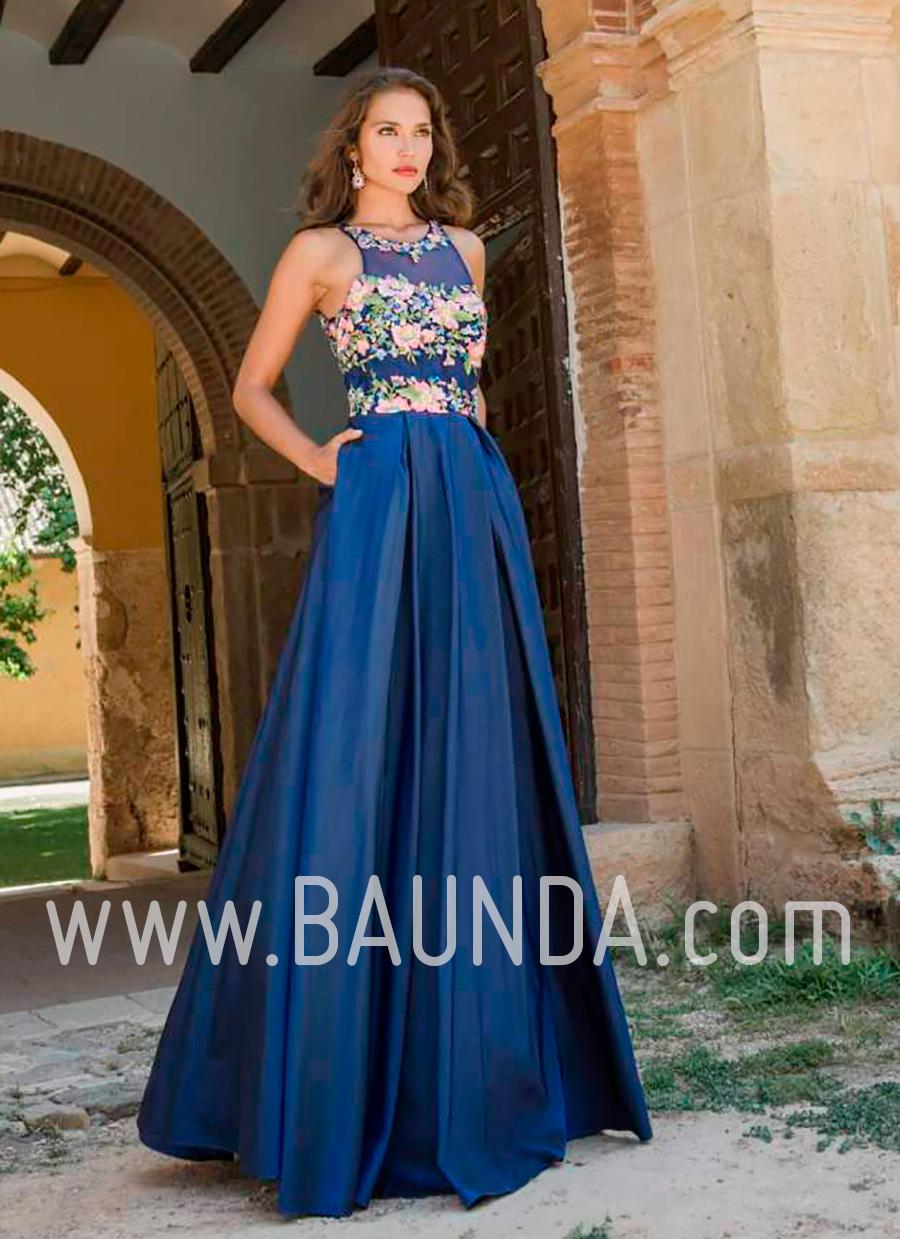 Vestidos de noche largos en azul