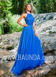Vestido de invitada azulón 2018 XM 4905