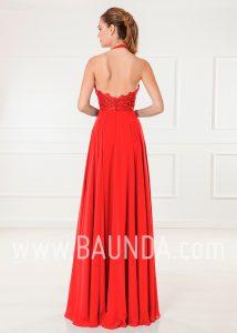 Vestido de invitada rojo 2018 XM 4905 espalda