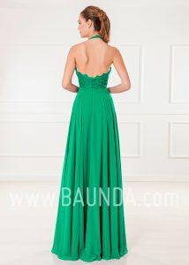 Vestido de invitada verde 2018 XM 4905 espalda