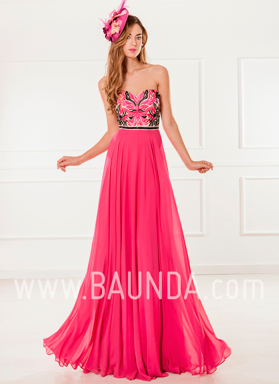 8718946df7 Baunda Vestido-de-fiesta-largo-2018-xm-4909-fucsia - Baunda
