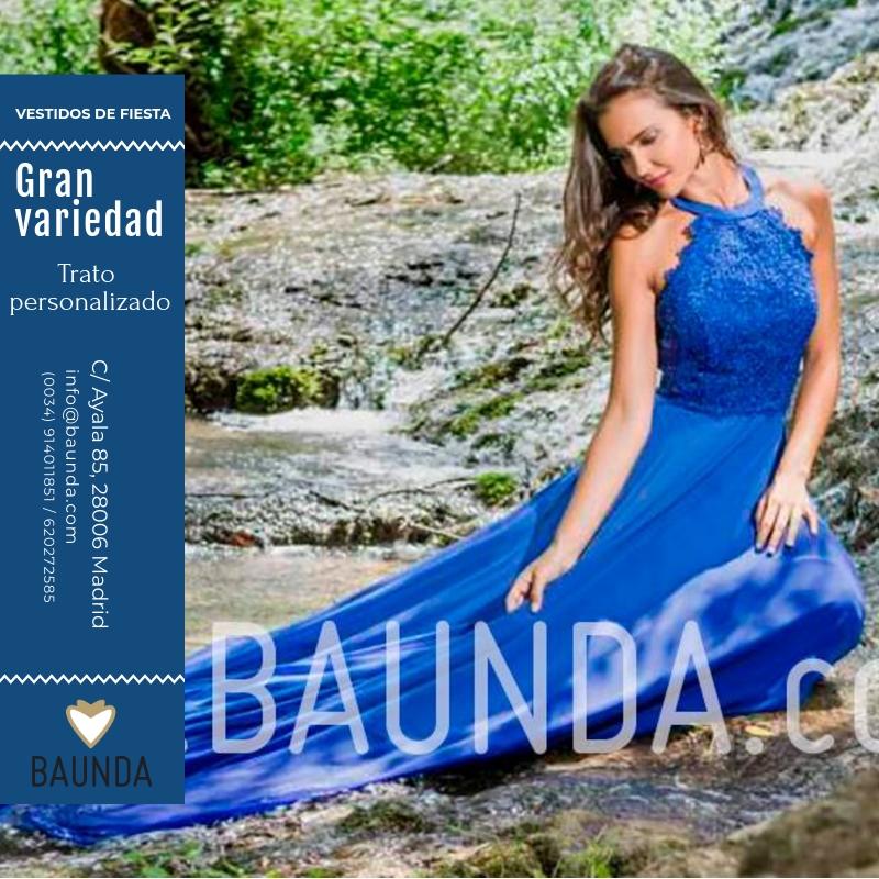 Fotos de vestidos azules elegantes