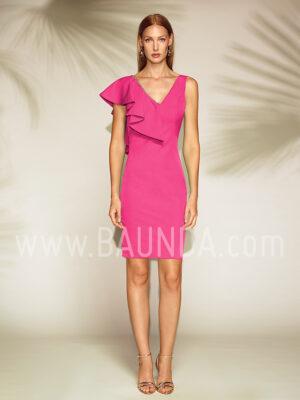 Vestido corto fucsia 2019