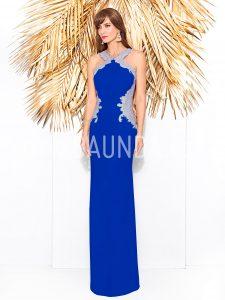 Vestido largo Cabotine 2018 modelo 8272 azulón
