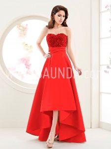 Vestido midi rojo Zeila 2018 modelo 611