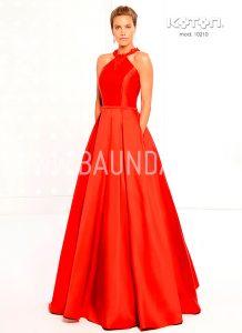 Vestido para boda rojo Koton 2018 modelo 10210