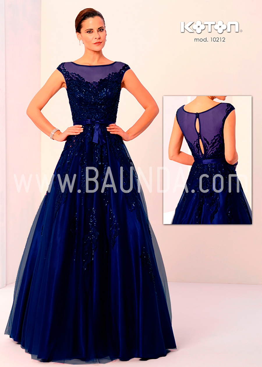 Vestido madrina azul