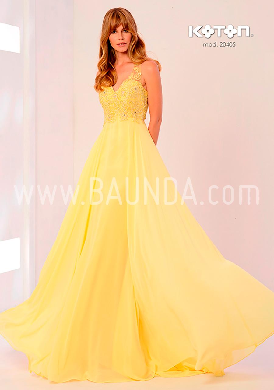Vestido De Fiesta Largo 2018 Koton 20405 Amarillo Baunda