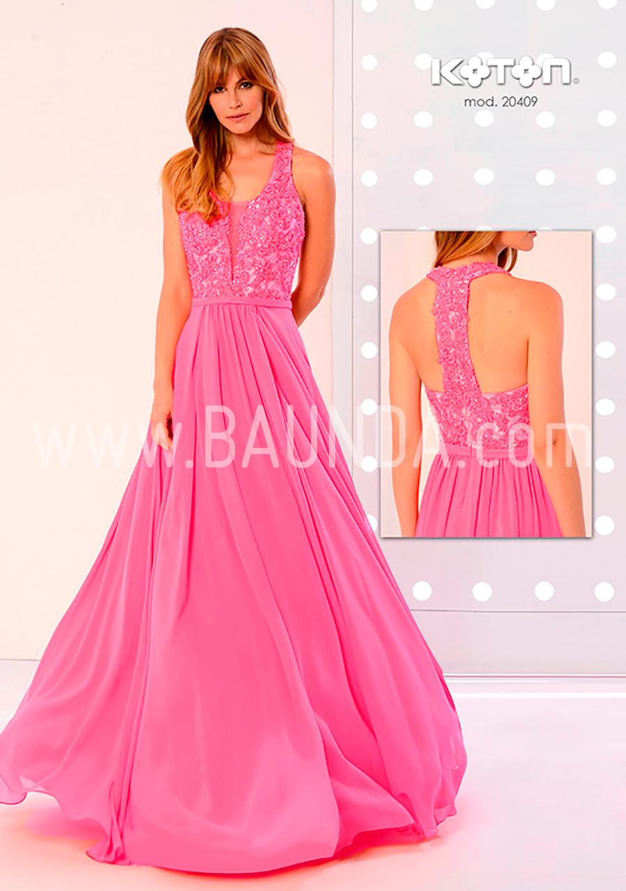 Baunda Vestido de boda fucsia Koton 2018 modelo 20409 Baunda Madrid ...