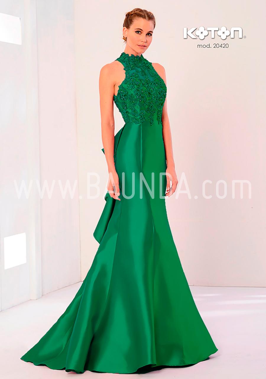 7bda16f5b7d8 Baunda Vestido hermana verde Koton 2018 modelo 20420 - Baunda