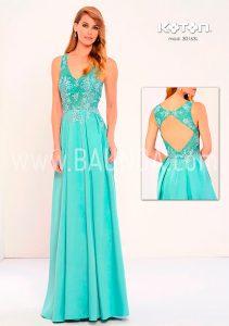 Vestido fiesta verde agua Koton 2018 modelo 30163