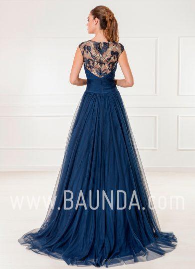 Vestido de tul azul marino 2018 XM 9805 espalda