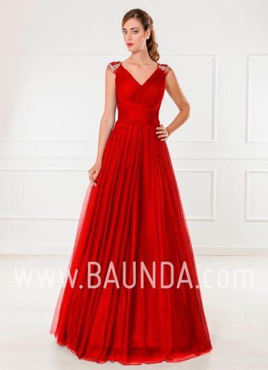 Vestido de tul rojo 2018 XM 9805