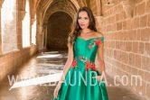 Vestido de madrina verde 2018 XM 9836 detalle