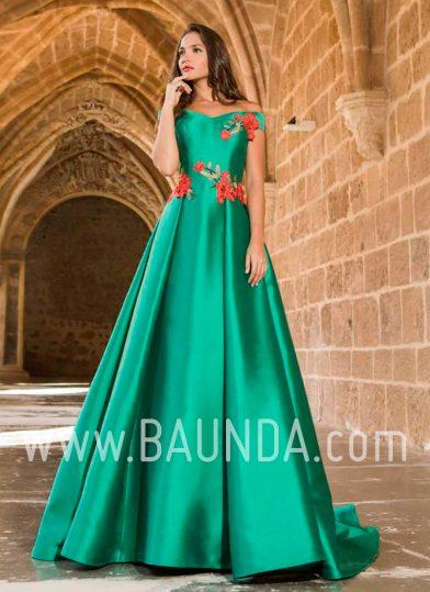 Vestido de madrina verde 2018 XM 9836