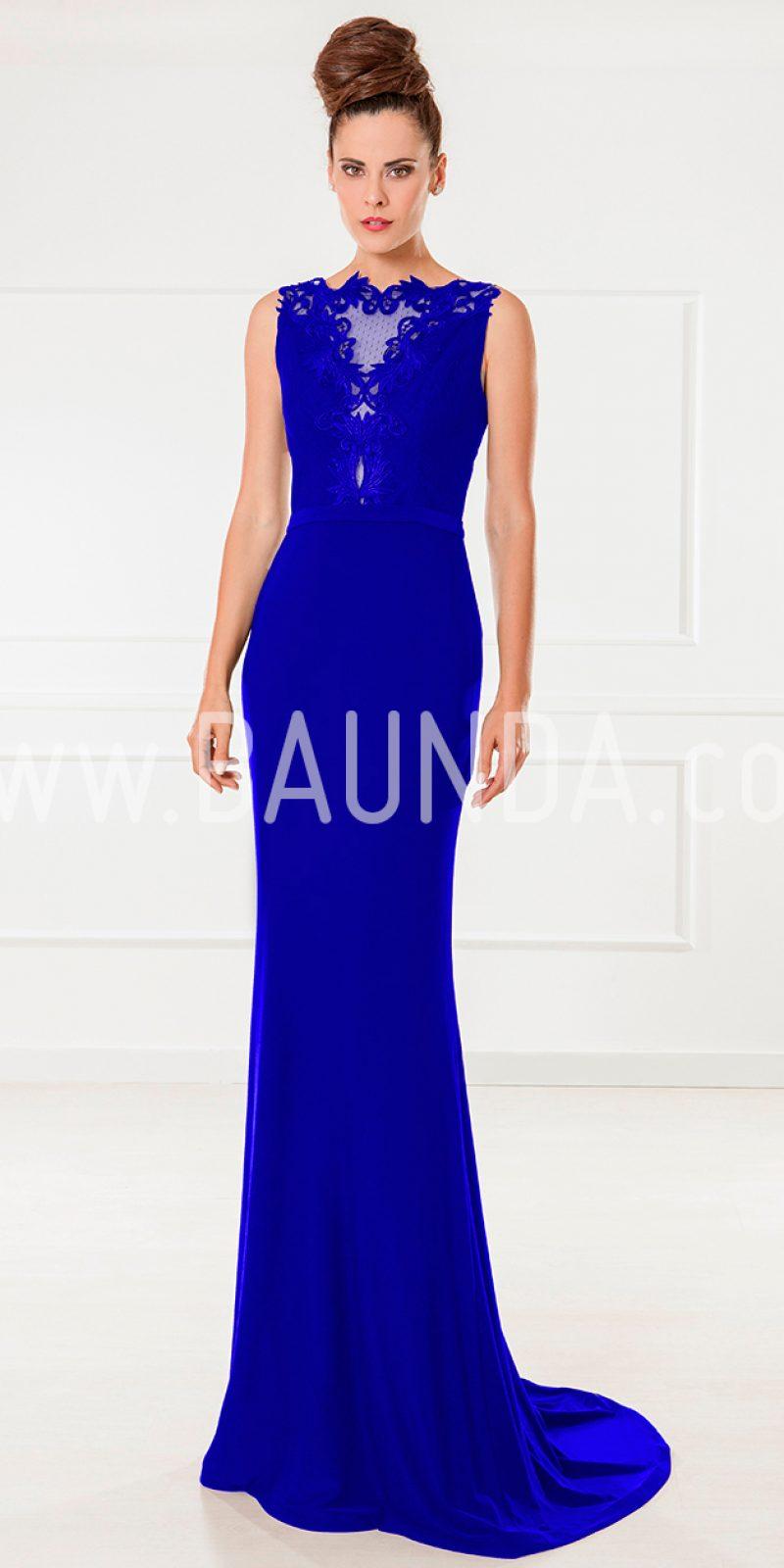 Baunda Vestido de fiesta azulón 2018 XM 9860 en Baunda Madrid y online