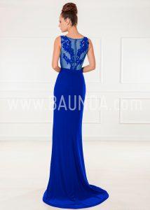 Vestido de fiesta azulón 2018 XM 9860 espalda