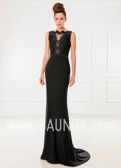 Vestido largo negro 2018 XM 9860