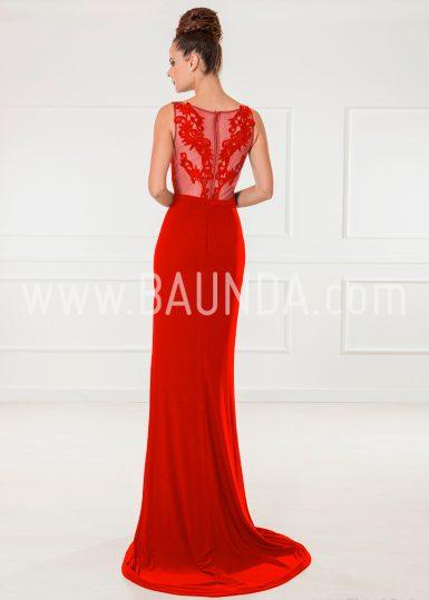 Vestido de fiesta rojo 2018 XM 9860 espalda