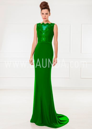 Vestido de fiesta verde 2018 XM 9860