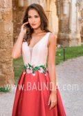 Vestido largo bicolor 2018 XM 9890 detalle