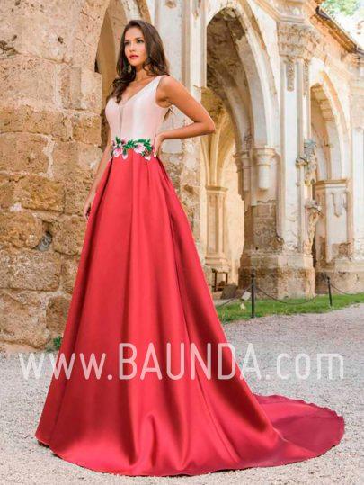Vestido largo bicolor 2018 XM 9890