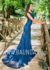Vestido largo sirena 2018 XM 9897 azulón