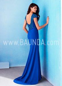 Vestido azulón hermana de la novia Marfil 2018 modelo 2J100 espalda